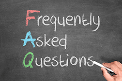 Blackboard with writing: Frequently Asked Questions